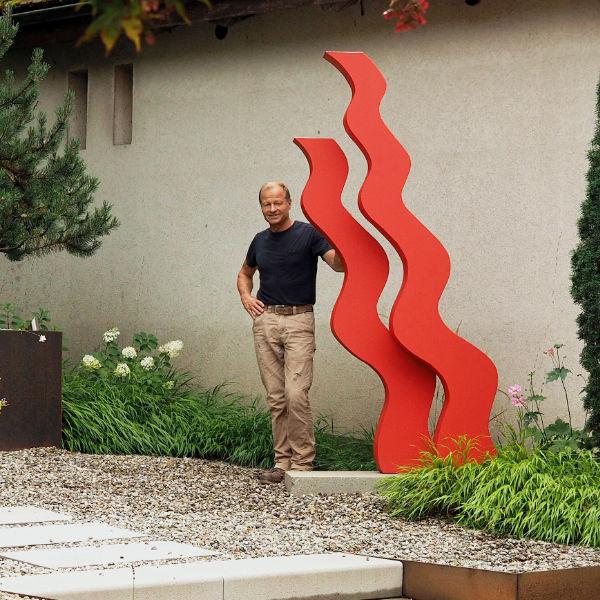 Neues Kunstwerk im Skulpturengarten