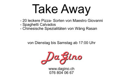 "Neu im ""Da Gino"": ""Take Away"""