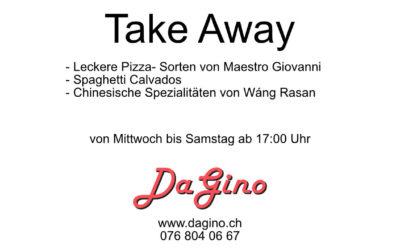 """Neu im """"Da Gino"""": """"Take Away"""""""